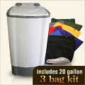 20 Gallon Drop Machine 3 Bag Combo Kit